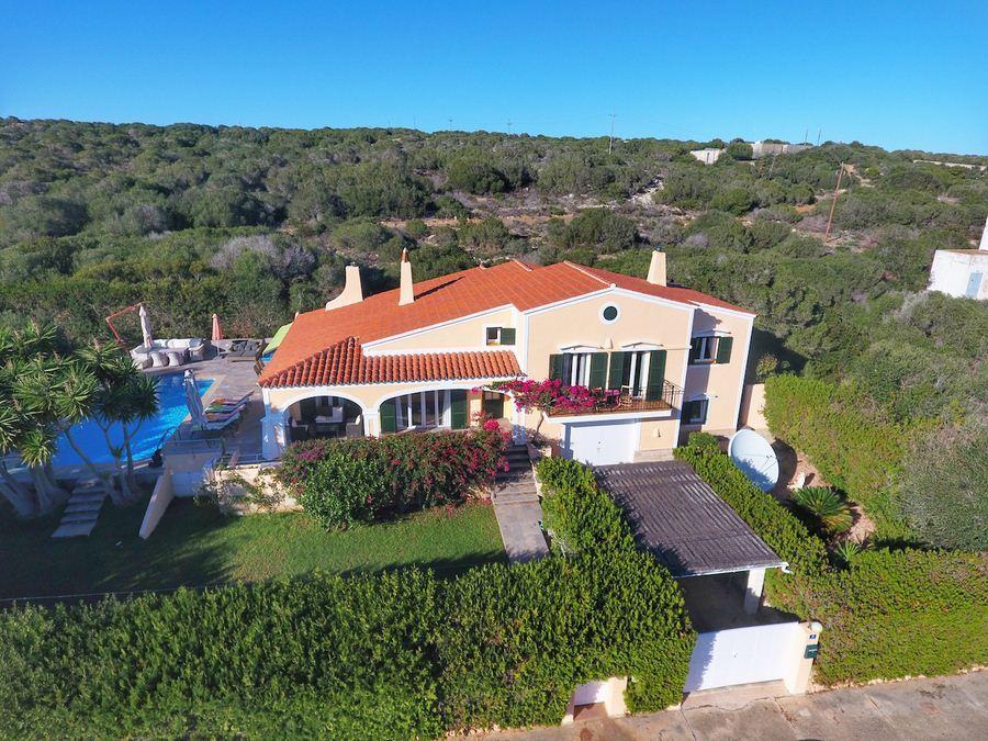 Nice sea facing villa in Punta Prima for sale in Menorca