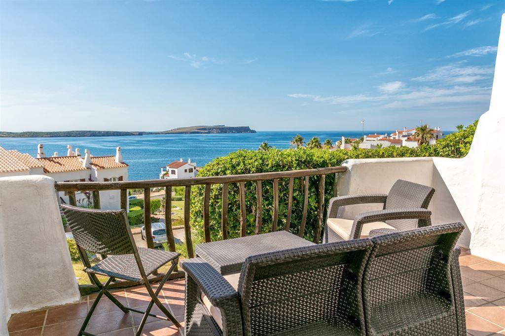Nice sea facing villa for sale in Menorca in front of Playa de Fornells