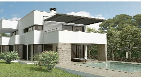 Nice Villa under constructions with large terrace overlooking the sea in Son Vitamina
