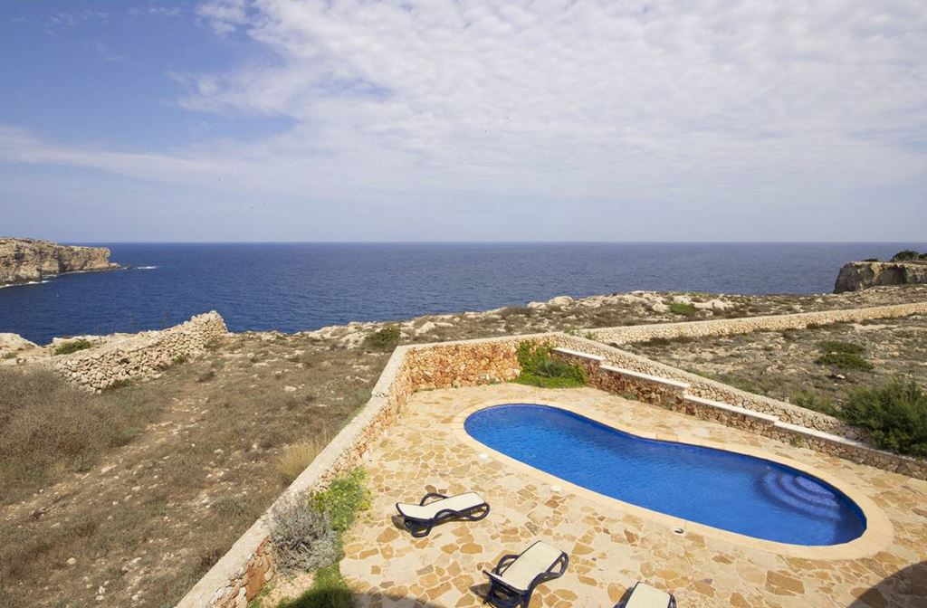 Magnificent sea facing front line villa for sale in Cala Morell