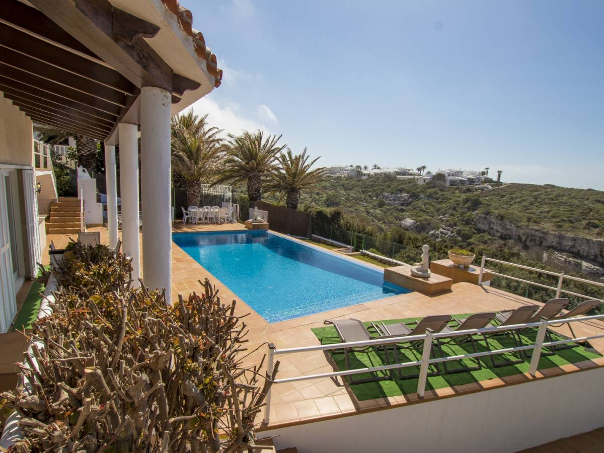Amazing and magnificent sea facing front line villa for sale in Menorca