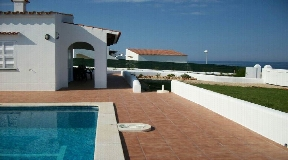 Villa in the front line to the sea in Cap-Dartruix in Menorca