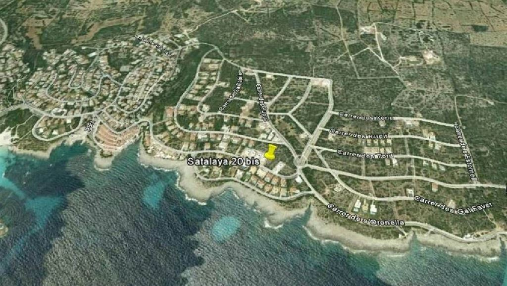 Building land with a unique sea view in Satalaya - Menorca