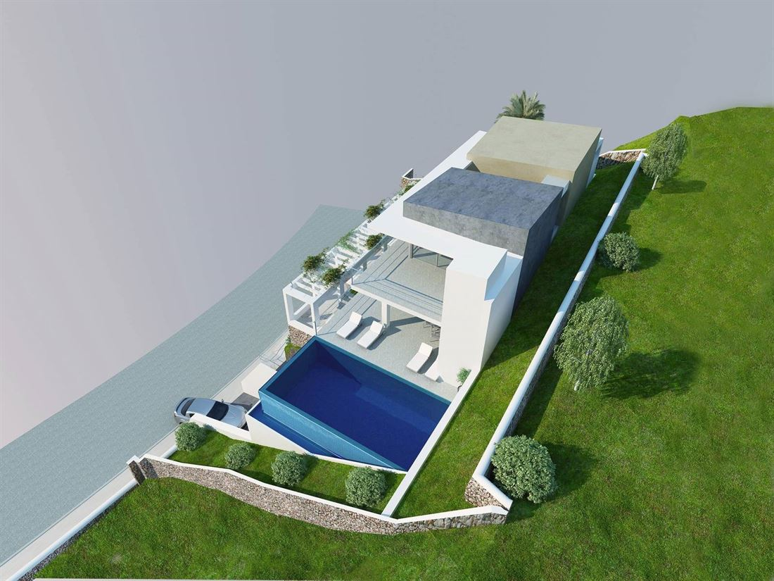 Building land in Cala Llonga with licence and project for sale