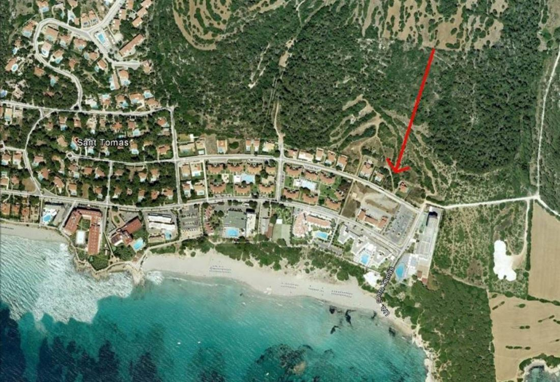 Building plot in a popular residential area on Menorca in Santo Tomas